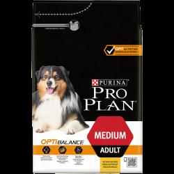 Pro Plan Medium Adult avec OPTIBALANCE Riche en Poulet - Croquettes chiens - 3 kg