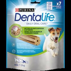 Friandises Dentalife Mini - 7 Bâtonnets à mâcher pour chiens de petite taille - 115 g