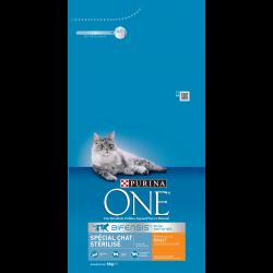 Purina One Chat Stérilisé - au Poulet et au Blé - Croquettes chat - 6 kg