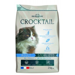Crocktail chat adulte stérilisé 2 kg