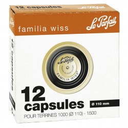Capsules FW - ø 110 noire - boite 12 - Le Parfait