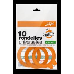 """Rondelles universelles """" 2 oreilles """" - ø 85 - sachet 10 - Le Parfait"""