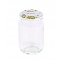 Pots à miel 385 ml couvercle t.o. 63 mm doré - pack 6 - Le Parfait