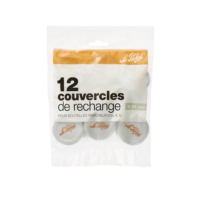 Capsules t.o.ø 48 mm pour bouteilles fraicheur - sachet 12 - Le Parfait