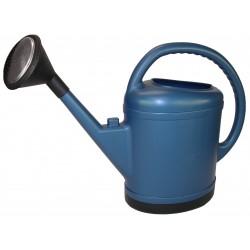 Arrosoir ovale extra fort 13 litres bleu avec pomme laiton
