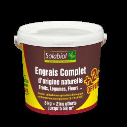 Engrais organique complet seau de 5 kg + 2 kg gratuits