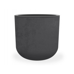 Pot Rond 40 cm - BASALT UP Ø 38,5 x 36,8 cm - 32,5L - Gris anthracite
