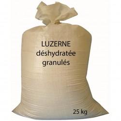 Luzerne deshydratée granulée en sac de 25 kg